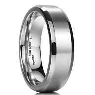 King Will 7MM Titanium Ring Stainless Steel Brushed/Matte Comfort Fit Wedding Band For Men