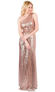 EverLove Women's Sequined Long Bridesmaid Dresses Wedding Party Gown EL-0045