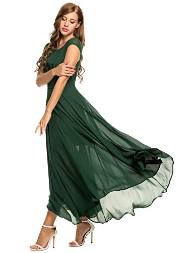 Casual maxi dresses with cap sleeves