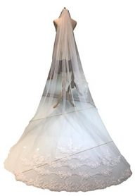 Monkidoll Lace Wedding Veil With Comb Long 3 Meters Bridal Veils