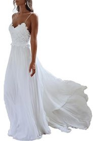 Monkidoll Women's Chiffon Beach Wedding Dresses