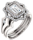 1.01 ct GIA certified Emerald cut DIAMOND Engagement 14k White Gold Ring G VS1