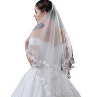 Mingxuerong Women's Simple 2 layer Tulle Bridal Veil Short Wedding Veil