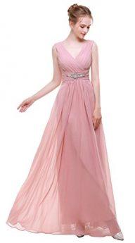 Esovr V Neck Chiffon Long Formal Evening Gown Bridesmaid Dresses Prom Dresses