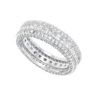 White Gold & CZ French-Cut Eternity Band