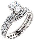 GIA cert 1.01 carat Oval shape Diamond Engagement Wedding 14k White Gold G VS1