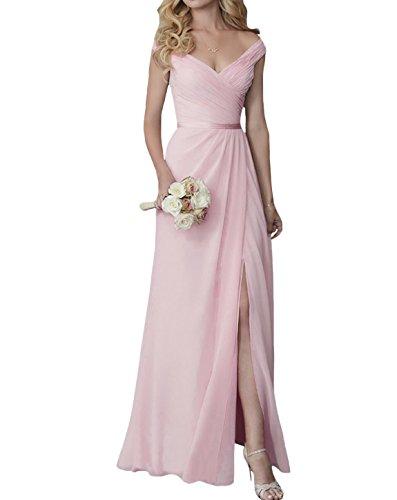 elegant v neck fall evening prom dress bridal party