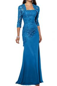 ThaliaDress Women's Mother Of Bride Evening Prom Dress With Shawl T263LF
