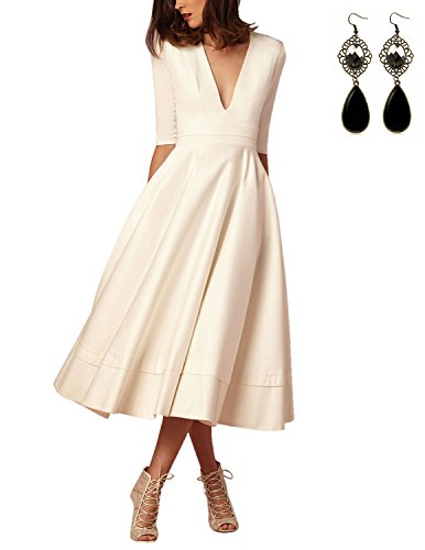 Buy Sitengle Elegant Women Deep V Neck Long Evening Cocktail Dress