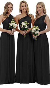 Women's Long One Shoulder Bridesmaid Gown Asymmetric Prom Evening Dress