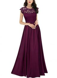 Miusol Women's Formal Floral Lace Evening Party Maxi Dress