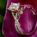 Emerald Cut 1.75 Ct Diamond Engagement Wedding Ring 10K White Gold Finish