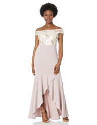 Adrianna Papell Women's Long Embroidered Dress