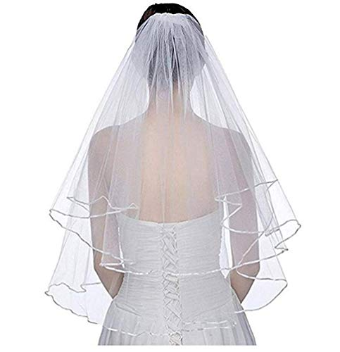 Botong White Ivory Bridal Veils with Comb Wedding Accessories