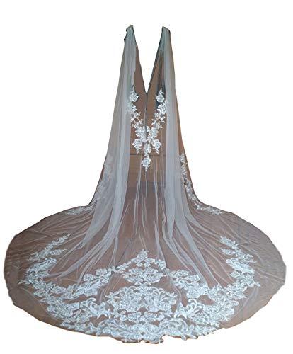 Wedding Capes Lace Bridal Veils Appliques Bridal Wraps Cathedral Length Wedding Cloak