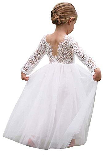 Girl Toddler Full-Length Straight Tulle Tutu Lace Back Party Flower Girl Dress