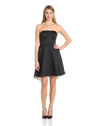 HALSTON HERITAGE Women's Strapless Color-Block Dress with Back Fold Detail