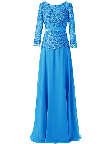 Mother of The Bride Dress Long Sleeves Lace Mother Dresses Formal Evening Dress