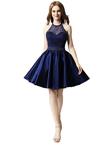 Belle House Women's Short Beading Dress A Line Prom Ball Gown