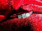 Diamond Engagement Ring 3 Stone size 7.5 14k White Gold