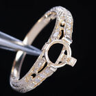 Solid 14K Yellow Gold 5.5-6mm Round Cut Semi Mount Filigree Wedding Fine Ring